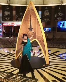 Bollywood Bev in her Star Trek Las Vegas convention debut