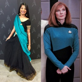 Original Bollywood Bev styled after Dr. Beverly Crusher's science uniform