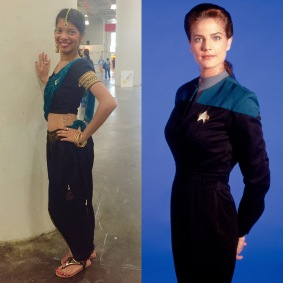 Desi Dax styled after Jadzia Dax