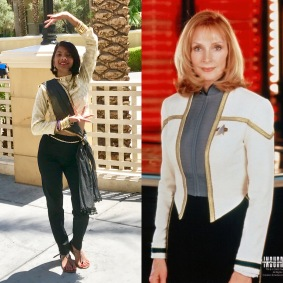 White dress uniform Bev styled after Dr. Crusher's dress uniform